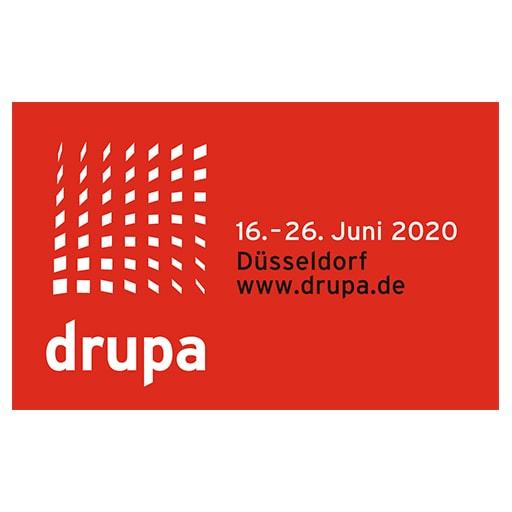 drupa Messe Düsseldorf Juni 2020 Logo